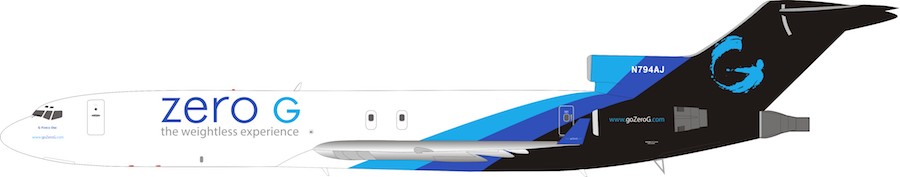 Zero-G Boeing 727-200 N794AJ (1:200) - Preorder item, order now for future delivery