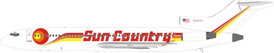 Sun Country Airlines Boeing 727-200 N288SC (1:200)