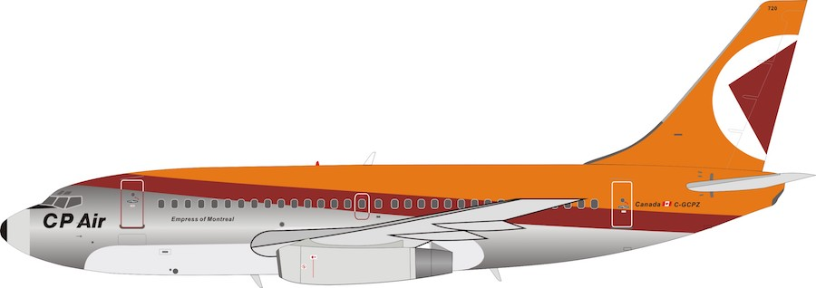 CP Air Boeing 737-200 C-GCPZ polished (1:200)