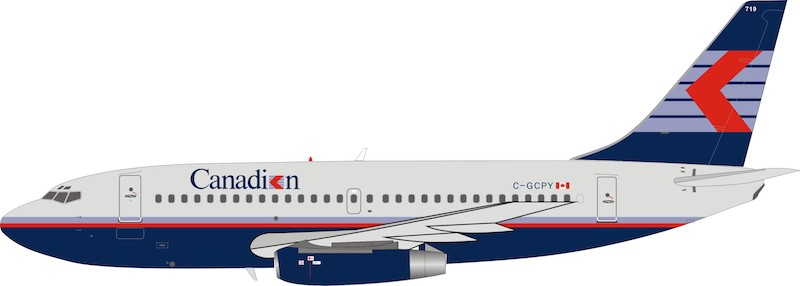 Canadian Airlines Boeing 737-200 C-GCPY With Stand (1:200)