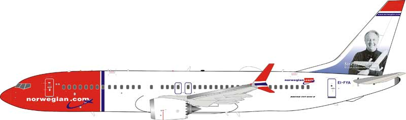 Norwegian Air Shuttle Boeing 737-8 MAX EI-FYA (1:200)
