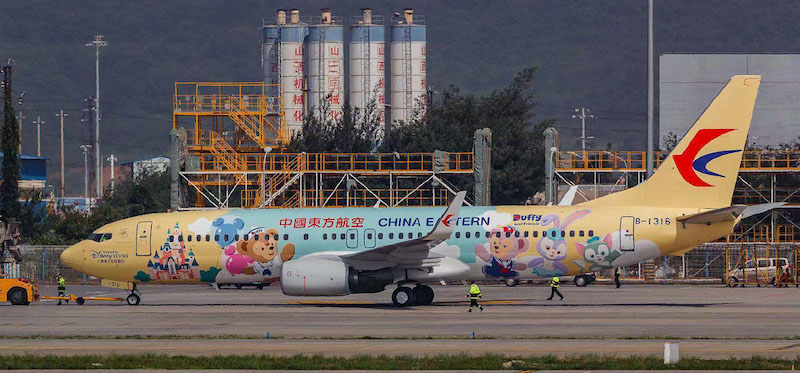 China Eastern Airlines Boeing 737-800 B-1316 Duffy Friendship Express With Stand (1:200)