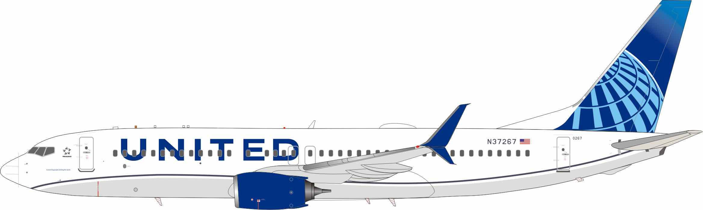 """United Airlines 737-800 N37267 2020 Colors (1:200) """"Connecting the World, Uniting People"""""""