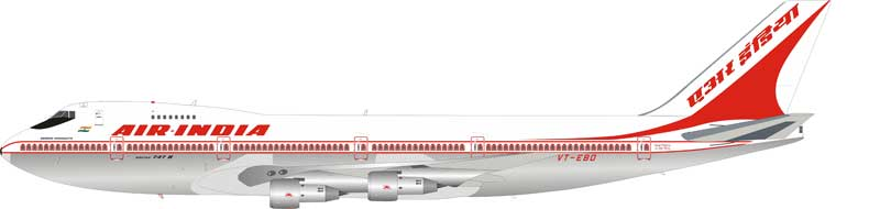 Air India Boeing 747-237B VT-EBO stand included (1:200)