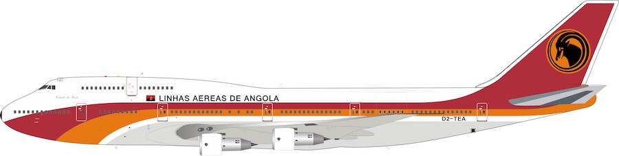TAAG Angola Airlines D2-TEA Boeing 747-312M (1:200)
