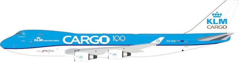 KLM - Royal Dutch Airlines Cargo Boeing 747-400 PH-CKB With Stand (1:200)