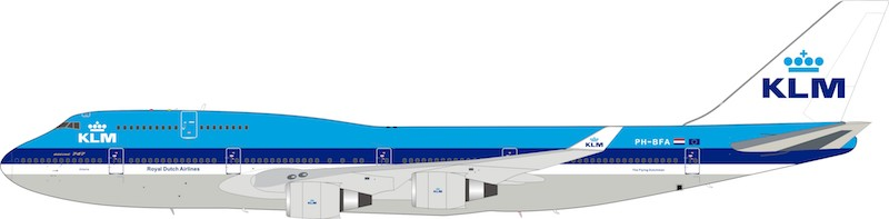 KLM Boeing 747-400 PH-BFA (1:200)