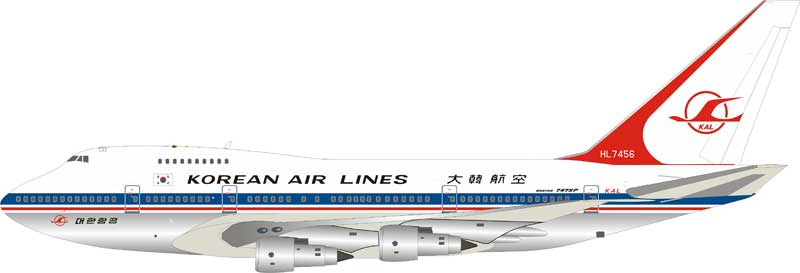 Korean Air Lines Boeing 747SP-B5 HL7456 Polished (1:200)