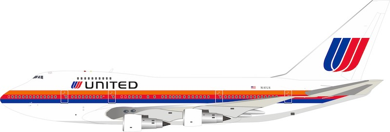 United Airlines Boeing 747SP-21 N141UA With Stand (1:200)