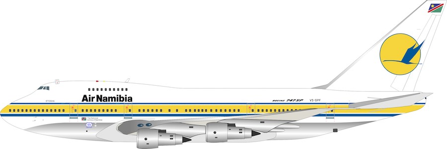 Air Namibia Boeing 747SP-44 V5-SPF (1:200)