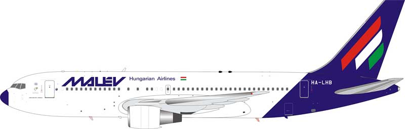 Malev Hungarian Airlines Boeing 767-200 HA-LHB (1:200)