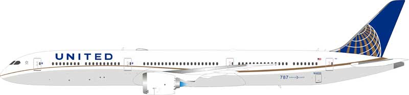 United Airlines Boeing 787-10 Dreamliner N14001 (1:200)
