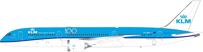 KLM Boeing 787-9 Dreamliner PH-BHN With Stand (1:200)