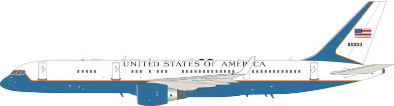 USA Air Force Boeing C-32A (757-200) 98-0003 with stand (1:200)