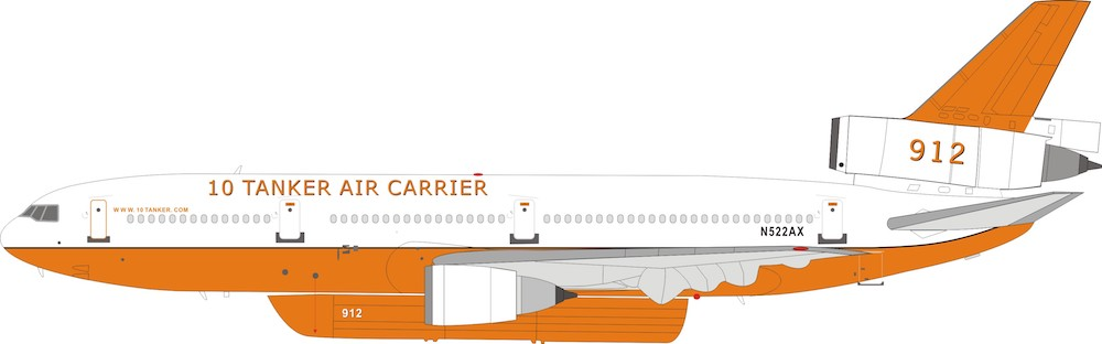10 Tanker Air Carrier DC-10-30 N522AX With Stand Limited to 96 (1:200)