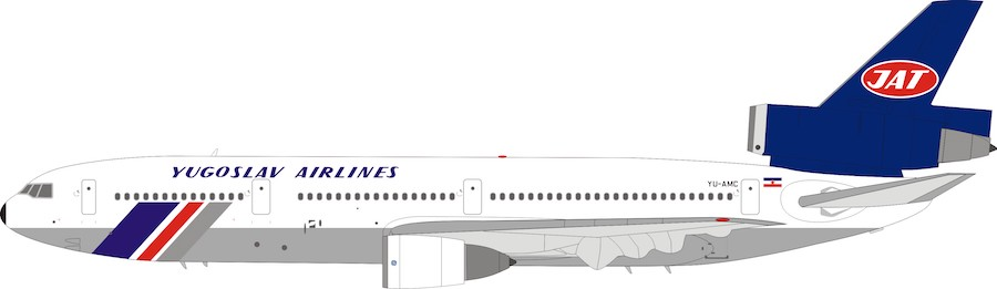 JAT - Yugoslav Airlines McDonnell Douglas DC-10-30 YU-AMC with stand (1:200)