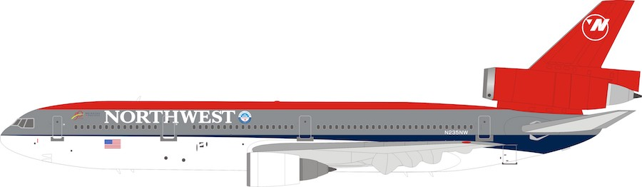Northwest Airlines McDonnell Douglas DC-10-30 N235NW (1:200)