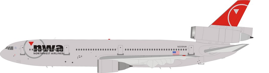 Northwest Airlines McDonnell Douglas DC-10 N226NW (1:200)