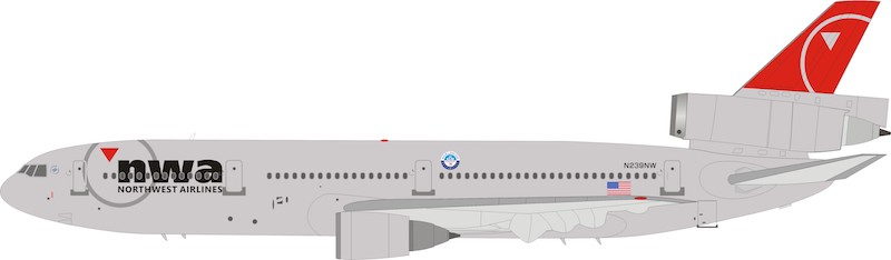 Northwest Airlines McDonnell Douglas DC-10 N239NW With Stand LIMITED  (1:200)