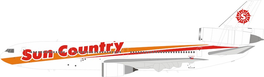 Sun Country Airlines DC-10-15 N154SY With Stand (1:200)