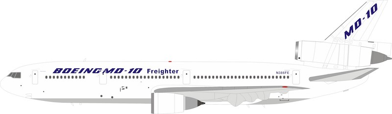 Boeing McDonnell Douglas MD-10-10 N386FE With Stand (1:200)