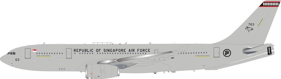 Singapore Air Force Airbus A330-200MRTT 763 with Stand LTD quantity 36 models (1:200)