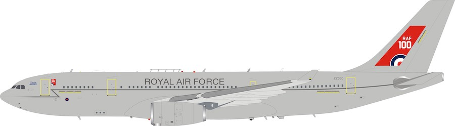 RAF Airbus A330 Voyager KC2 (A330-243MRTT) ZZ330 With Stand (1:200)