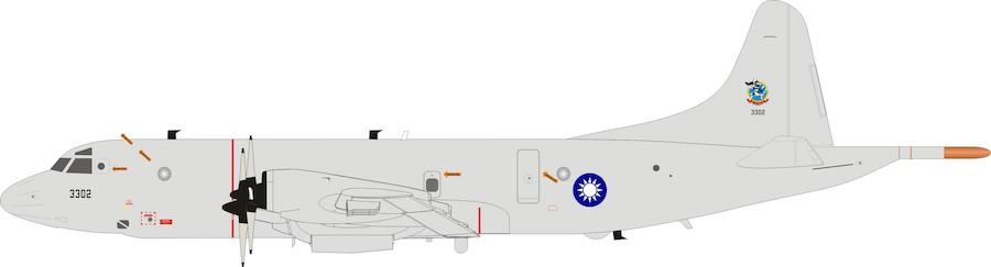 Taiwan Air Force Lockheed P-3C Orion 3302 With Stand (1:200)