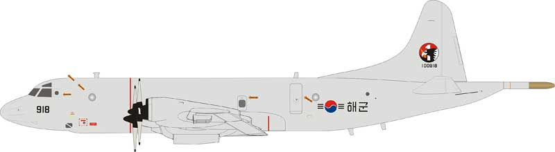 South Korea Navy Lockheed P-3CK Orion 100918 With Stand (1:200)