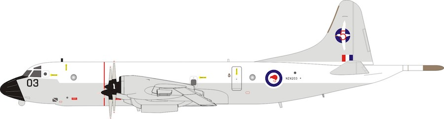 New Zealand - Air Force Lockheed P-3K Orion NZ4203 (1:200)