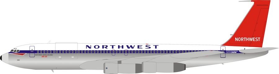 Northwest Orient Airlines Boeing 707-351C N386US (1:200)