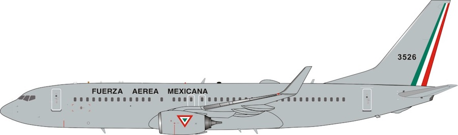 Mexican Air Force Boeing 737-800 3526 (1:200)