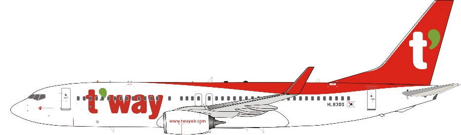 T'way Air 737-8AL with Winglets HL8300 (1:200)