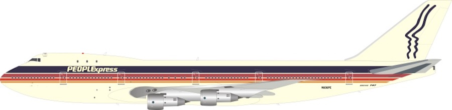 People Express Boeing 747-143 N606PE Limited 28 pieces (1:200)