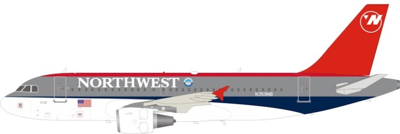 Northwest Airlines Airbus A319-114 N359NB (1:200)