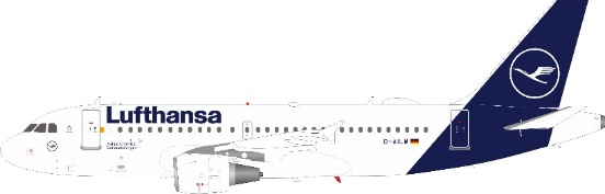 Lufthansa Airbus A319-114 D-AILM With Stand (1:200)