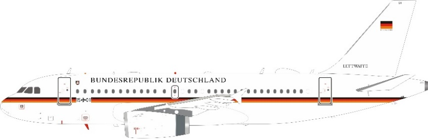 German Air Force, Bundesrepublik Deutschland A319-133(CJ) 15+01 (1:200)