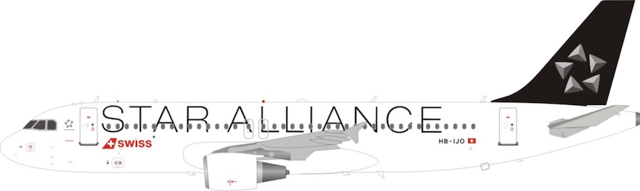 "Swiss International Air Lines A320-211 ""Star Alliance"" HB-IJO (1:200)"