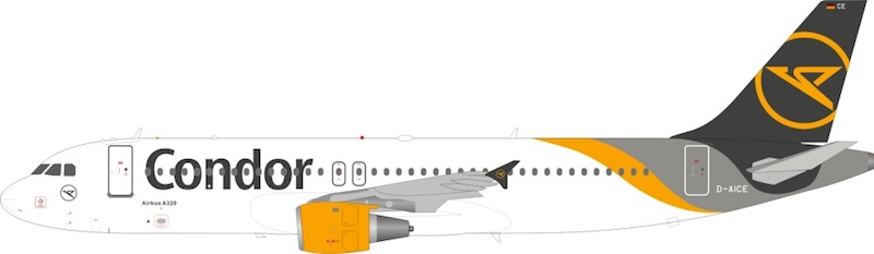 Condor Airbus A320-212 D-AICE With Stand (1:200)