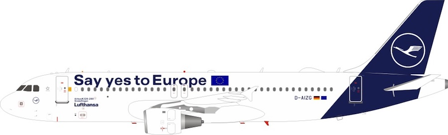 """Lufthansa Airbus A320-214 D-AIZG """"Say yes to Europe"""" (1:200)"""