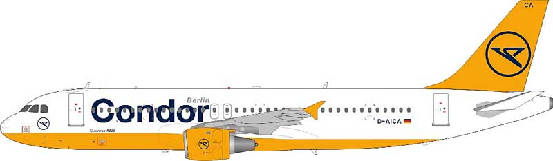 """Condor A320-212 D-AICA """"Berlin"""" with stand (1:200)"""