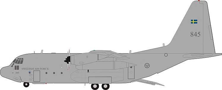 Swedish Air Force Lockheed TP-84 Hercules (C-130H/L-382) 84005 (1:200) Limited to 32