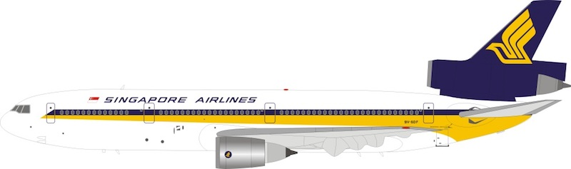 Singapore Airlines DC-10-30 9V-SDF With Stand (1:200)