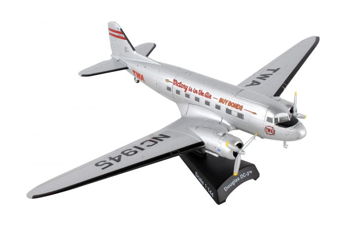 "TWA DC-3 ""Victory in the Air - Buy Bonds"" (1:144)"