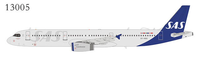 SAS Scandinavian Airlines SAS A321-200 OY-KBH The first SAS Airbus A321 in the new livery (1:400)