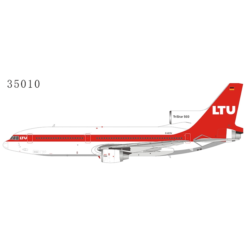 LTU - L-1011-500 D-AERV late 1980s (white roof) (1:400)