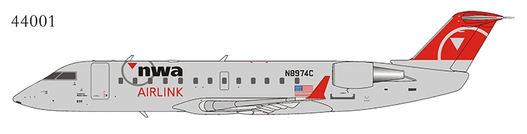 Northwest Airlink CRJ-440 N8974C Operated by Mesaba Airlines (1:200)