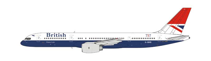 "British Airways 757-200 G-BIKB ""Negus"" livery, the 1st Boeing 757 delivered to British Airways (1:400)"