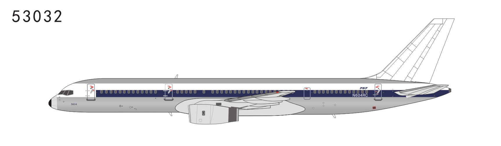 Northwest Airlines 757-200 N604RC Basic NW Scheme (1:400)