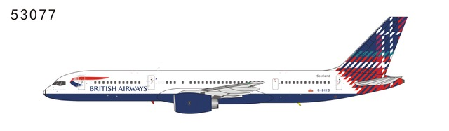 British Airways 757-200 G-BIKO World tail Benyhone Tartan (Scotland) (1:400)